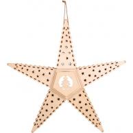 Lampe LED Étoile motif sapin