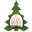 Sapin à suspendre Crèche de Noël
