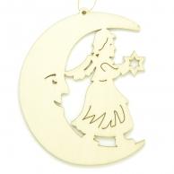 Croissant de lune Ange étoile
