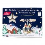 12 Bougies chauffe-plats allemandes à coupelle transparente