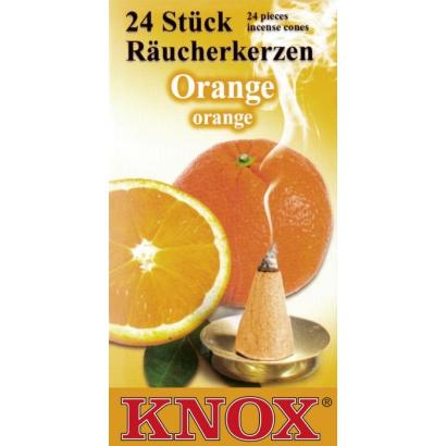 Cônes d'encens Orange KNOX