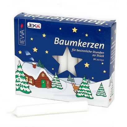 Boite de 20 bougies allemandes blanches 13mm
