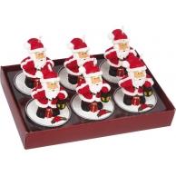 Bougies chauffe-plat «Père Noël»
