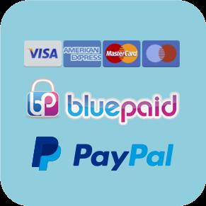 Paiement sécurisé par Bluepaid ou Paypal