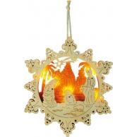 Lampe ornement à suspendre Crèche d'étoile