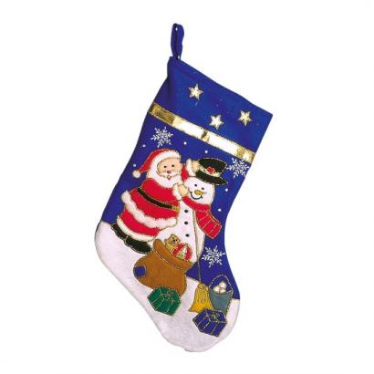 Botte père Noël et bonhomme de neige