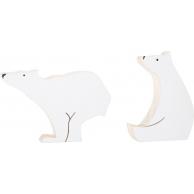 Ours polaires de décoration en bois
