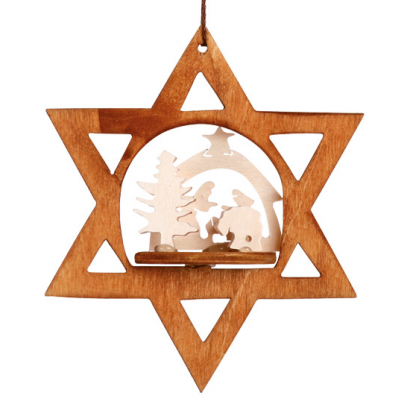 Étoile à suspendre Crèche de Noël