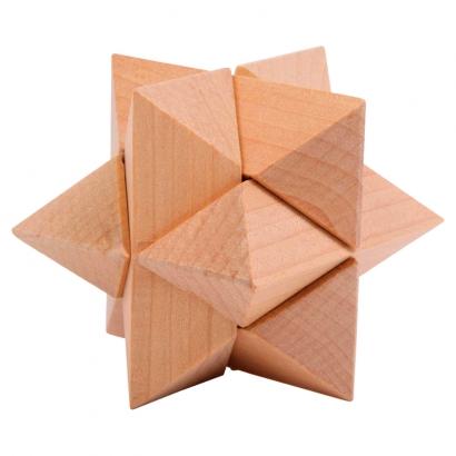 Casse-Tête Étoile en bois massif