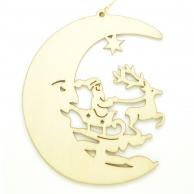 Croissant de lune Traîneau du Père-Noël