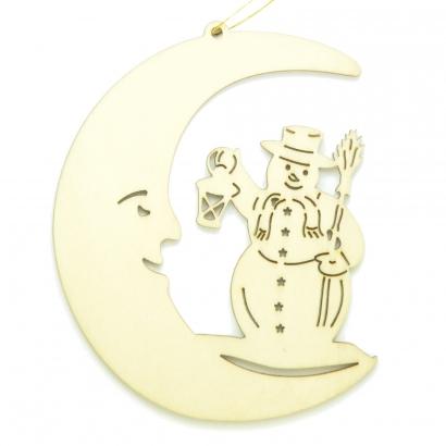 Croissant de lune Bonhomme de neige
