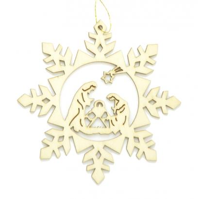 Flocon de neige Crèche de Noël