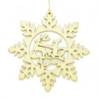 Flocon de neige Traîneau du Père-Noël