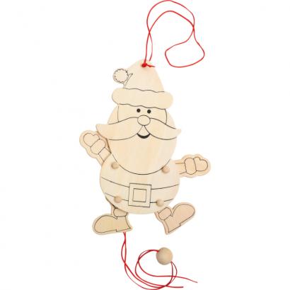 Pantin Père-Noël en bois à décorer