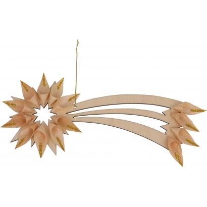 Suspension en bois Étoile filante