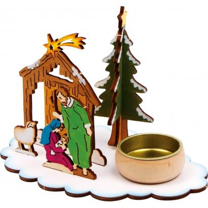 Photophore à assembler Crèche de Noël