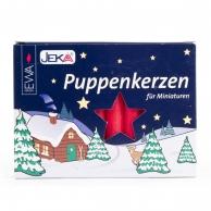 Boîte de 20 bougies allemandes rouges 10 mm