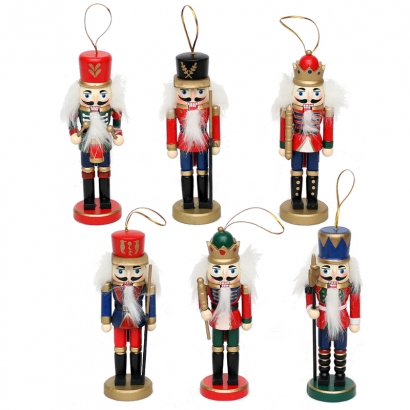 Set de 6 figurines Casse-Noisette 14cm