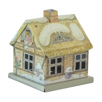 Maison encensoir Famille sous la neige