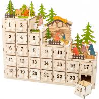 Calendrier de l'Avent Crèche de Noël
