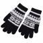 Gants noir Flocon de neige pour écran tactile
