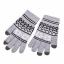 Gants gris clair Flocon de neige pour écran tactile
