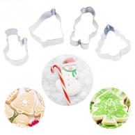 Lot de 4 emporte-pièces de Noël